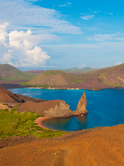 Catamaran Archipel route B ATC Cruises Galapagos Islands Bartome wildlife Ecuador