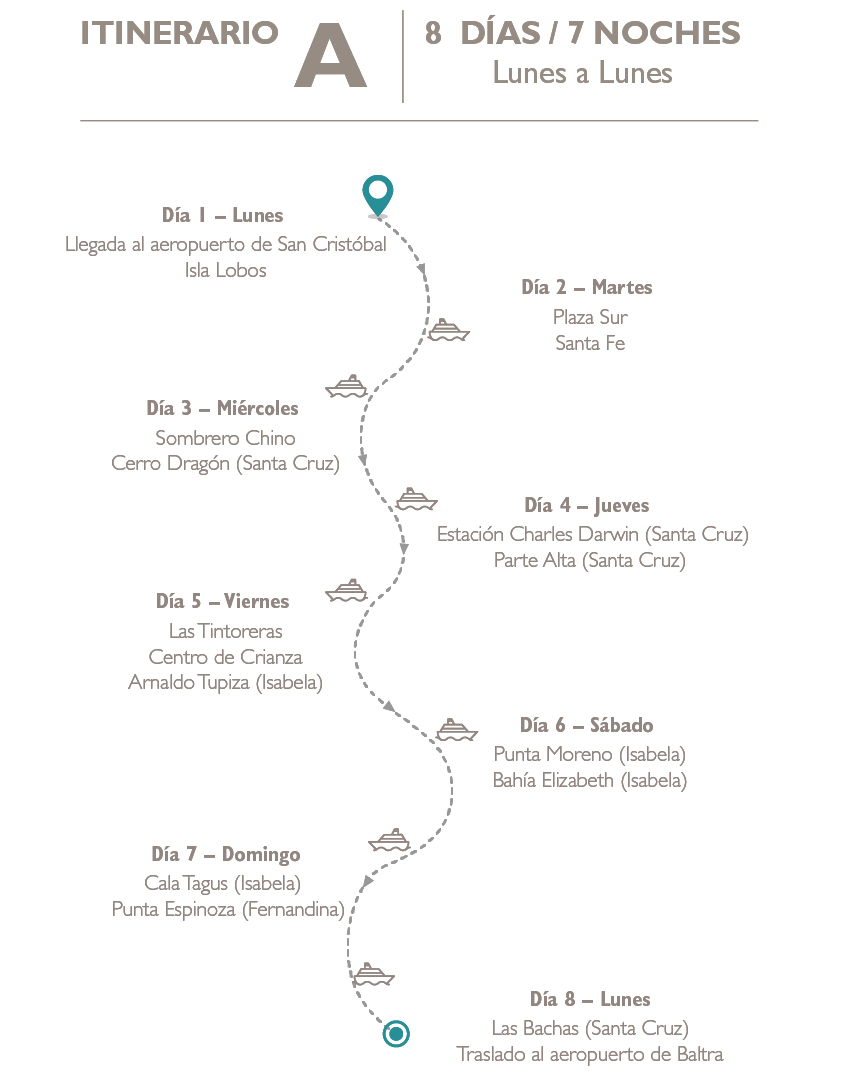 Ruta A Archipel2 crucero en Galápagos
